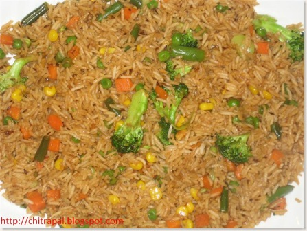 Chitra Pal Chinese Veg fried Rice