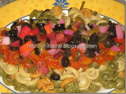 Chitra Pal Saucy Mediterannean Pasta