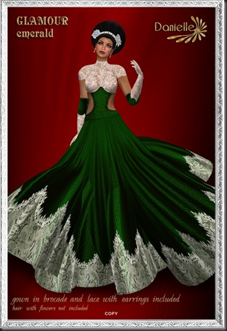 DANIELLE Glamour Emerald'