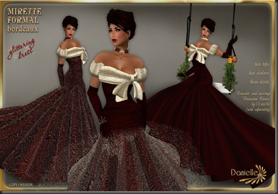 DANIELLE Mirette Formal Bordeaux'