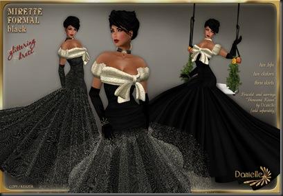 DANIELLE Mirette Formal Black'