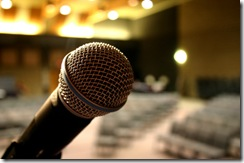 microphone in auditorium