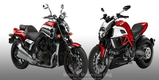Yamaha V-Max vs Ducati Diavel