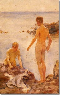 Tuke,_Henry_Scott_(1858–1929)_-_1921_-_Boys_bathing_on_rocks