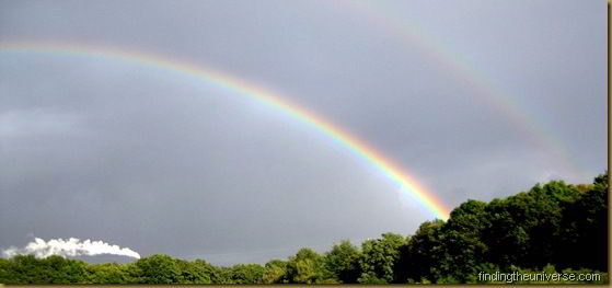 Double Rainbow in Germany, shot from the car