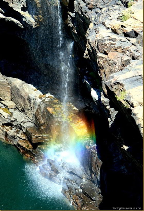 Rainbow in waterfalls, Mitchell Falls, Western Australia