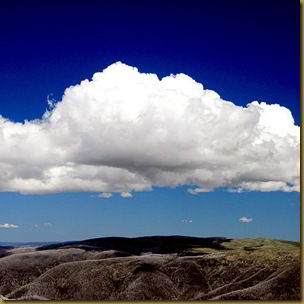 Clouds over Mount Bogong - square