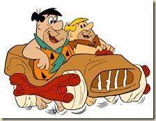Fred-Flintstone-Barney-Rubble-Car
