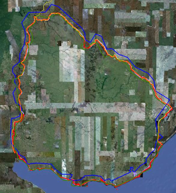 Uruguay with Google Maps