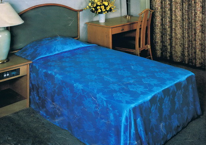 ผ้าห่มแพร ผ้าคลุมเตียงแพร รุ่นไม่มีชาย - ขนาดเตียงเดี่ยว