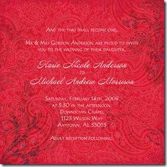 february wedding sample copy