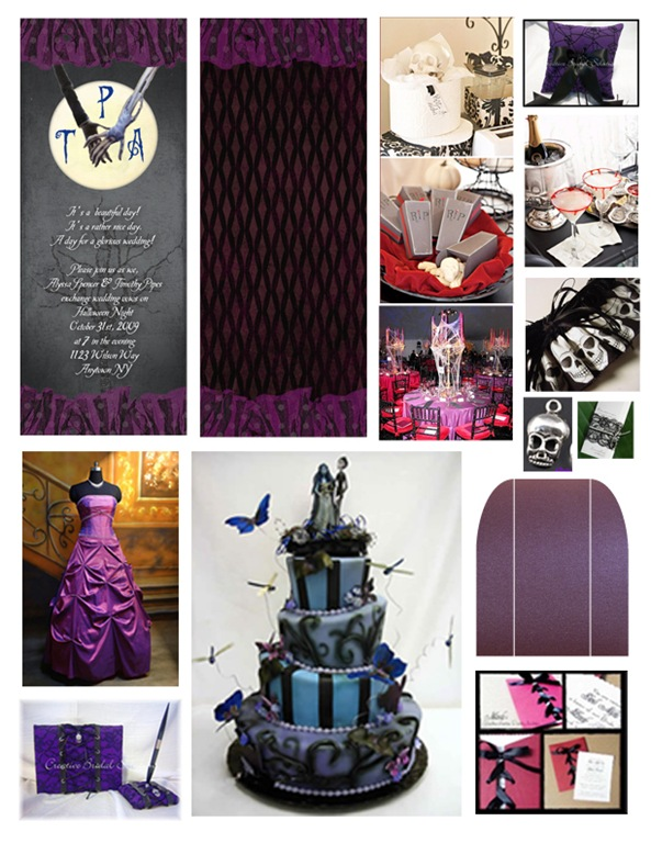 craftylilmomma the official blog: Corpse Bride Halloween wedding theme
