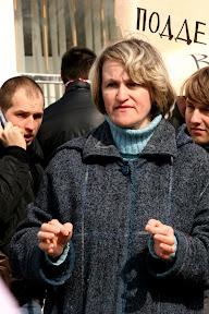 Митинг против вырубки леса (Пятихатки, 28.03.2010)Эмилия Грекова, член инициативной группы, ныне - координатор ЗФ