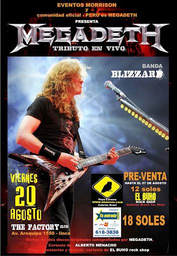 Tributo a Megadeth en Perú