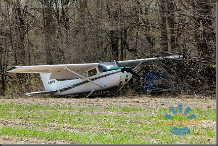 burlington_May 5, 2011 A Cessna 172 airplane with four people on board made an emergency landing in a farmer's field behind Corpus Christi Catholic Secondary school. David A. Gilmour LPPO_MG_1946