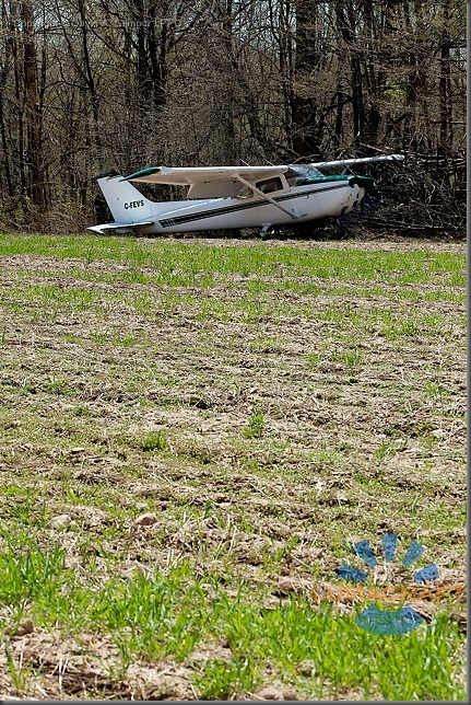 burlington_May 5, 2011 A Cessna 172 airplane with four people on board made an emergency landing in a farmer's field behind Corpus Christi Catholic Secondary school. David A. Gilmour LPPO_MG_1956