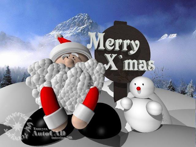 [展示]一些隨意作品(AutoCAD也是可以拿來亂畫的...) Santa01