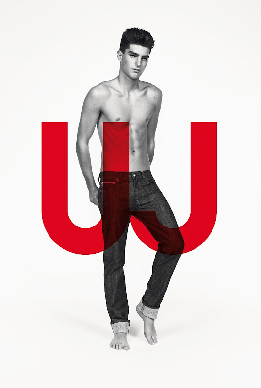 VGLMen.com | Paolo Anchisi for Uniqlo Jeans by Inez & Vinoodh, S/S 2010