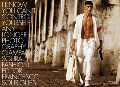 Evandro Soldati by Giampaolo Sgura for Hercules, April 2010