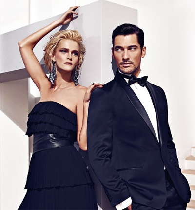David Gandy + Carmen Kass for Sarar S/S 2010