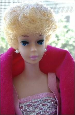 White Ginger Barbie doll bubblecut blonde blond Sophisticated Lady 1960s Mattel