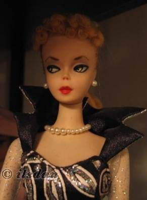 Barbie #1 doll original Mattel 1958 1959 Charity Ball Barbie gown for COTA