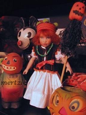 Helen Kish Tula vintage Halloween pumpkin 1930s composition rare Mickey Mouse German papier-mâché