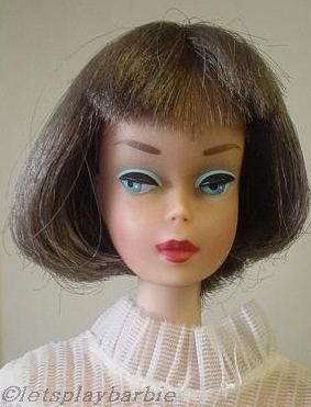 Mattel Barbie doll American Girl silver brunette Midi Magic 1960s