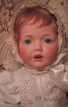 Antique bisque doll Hilda baby