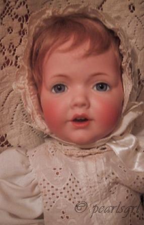 Antique bisque doll Hilda baby