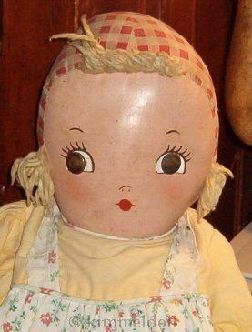 Oilcloth doll cloth vintage