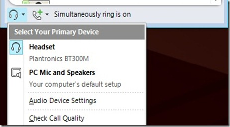 Plantronics - Lync Device Select