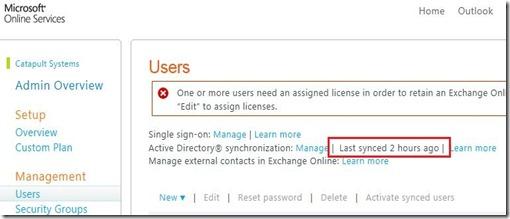 DirSync - portal user sync - markup