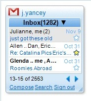 gmail gadget