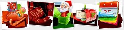 Visualizza Christmas Icon Set
