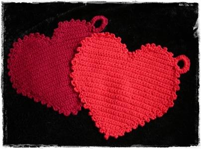 Topflappen Herzen