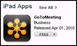 Citrix GotoMeeting for the iPad released.
