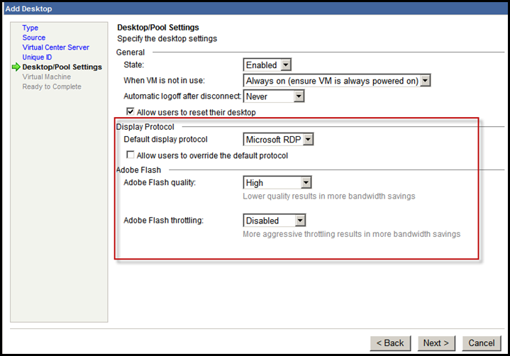 VMware View 3.1 Released – New Flash Settings