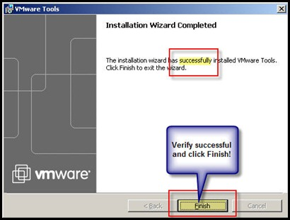 Successfully Upgrading VMware Tools