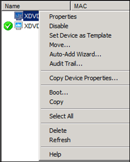 Missing Active Directory option in Citrix Provisioning Services