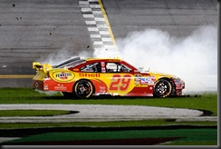 2010 Daytona Feb Shootout Harvick burnout