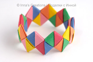Bracelet out of candy wrappers or paper strips