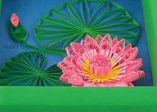 Water lily close-up, quilling