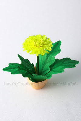 Dandelion in pot (quilling)