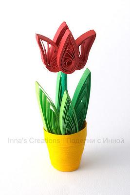 Tulip in pot (quilling)