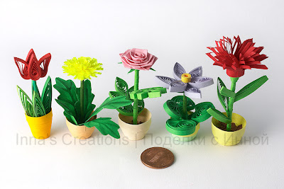 Flower pots (quilling)