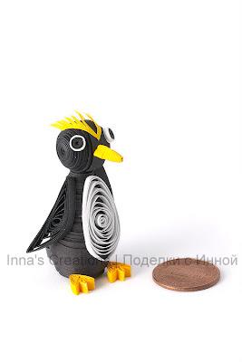 Macaroni penguin (3D quilling)