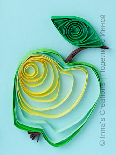Green quilled apple