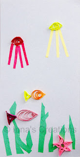 Kid's quilling: fish