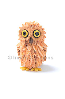 3D quilled baby owl